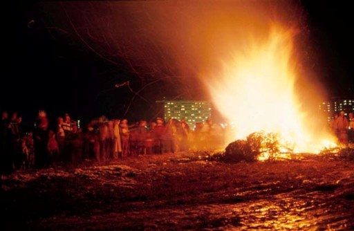 Christmas Tree Bonfire, Bozeman, Montana