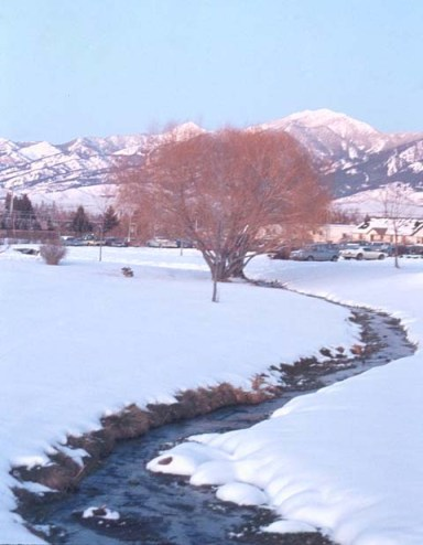 Bozeman, Montana in winter