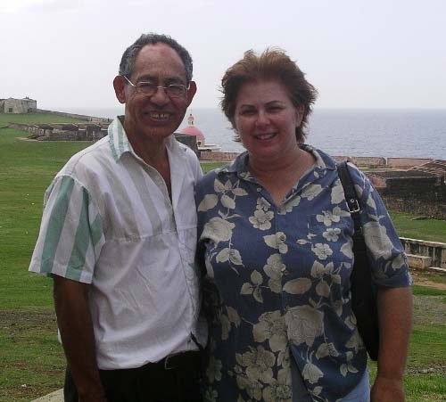 Evelyn and Eliseo in Old San Juan