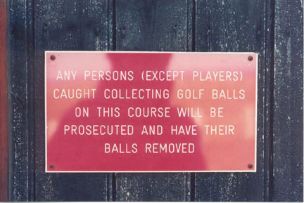 Funny Sign - Ball Removed
