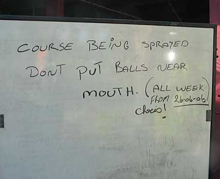 Funny Sign - Balls