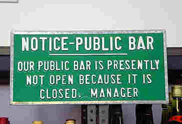 Funny Sign - Bar Closed