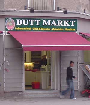 Funny Sign - Butt Market