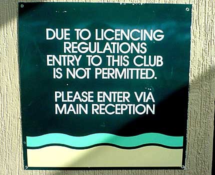 Funny Sign - Club Entrance