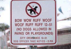 Funny Sign - Dog Sign