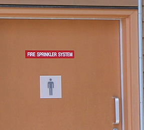 Funny Sign - Fire Sprinkler System
