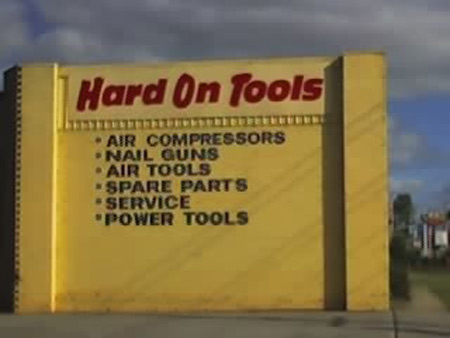 Funny Sign - Hard On Tools