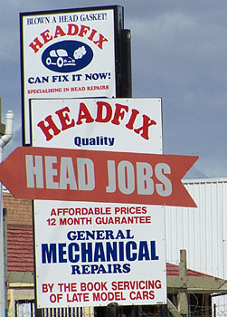 Funny Sign - Head Job